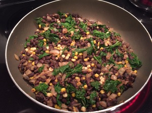 Black Bean Corn and Kale Filling