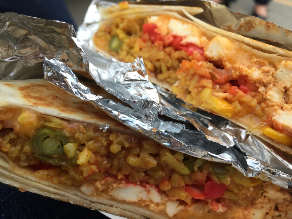 Biryani Burrito with Paneer